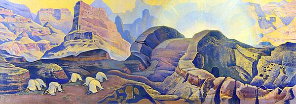 Н.К. Рерих. Чудо. Явление Мессии. 1923.